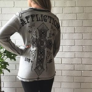Affliction | Reversible Long Sleeve Thermal Gray